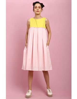 Yellow and Pink Stripes Dress