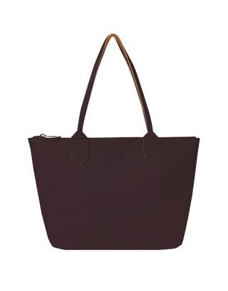 Purple small tote bag