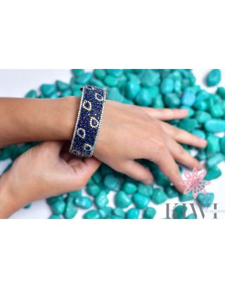 Blue & Black Bangle