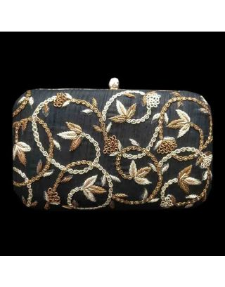 Designer Box Clutch with Zardosi Handwork