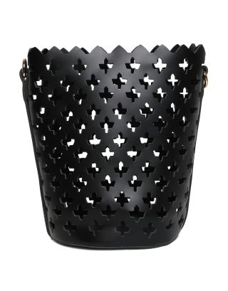 Black Cutwork Crossbody Bag