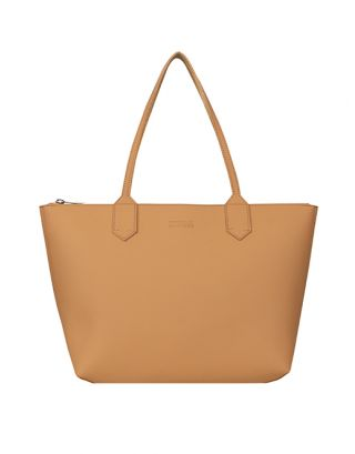 Khakhi brown small tote bag