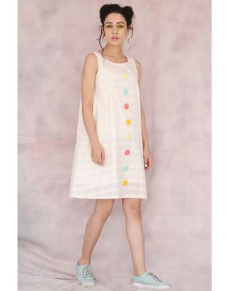 Off White Retro Dress