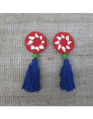 Red and Blue Tassels Buttons