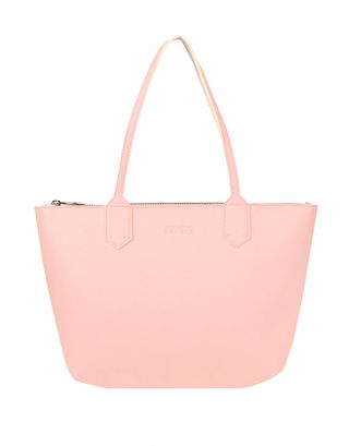 Pink small leather tote
