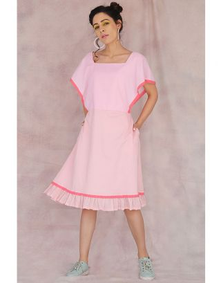 Pink Cotton Frill Dress