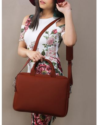 Wine Leather Laptop Bag