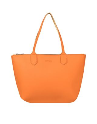 Orange small tote bag