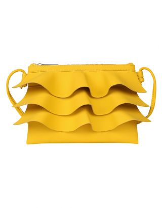 yellow bruffle small sling bag