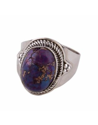 Purple Turquoise Silver Ring