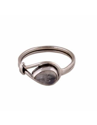 Small Moonstone Silver Ring