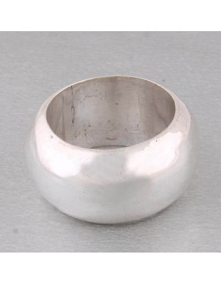 Plain Round Silver Ring