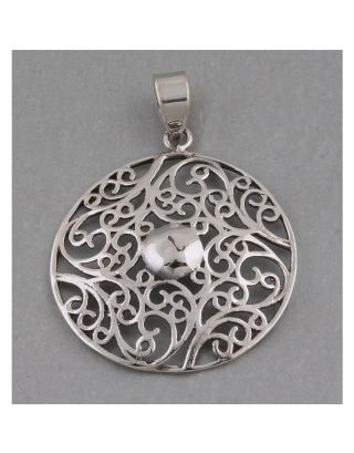 Freehand Silver Pendant