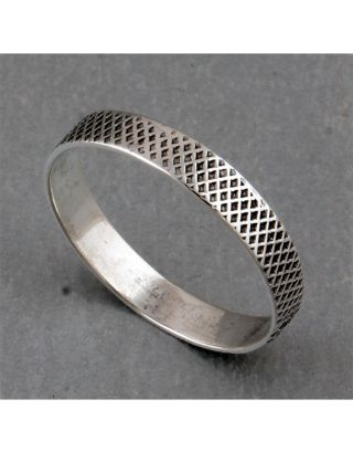 Simple Round Silver Ring
