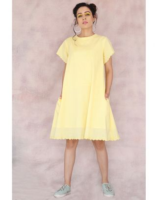 Lemon Yellow Straight Dress