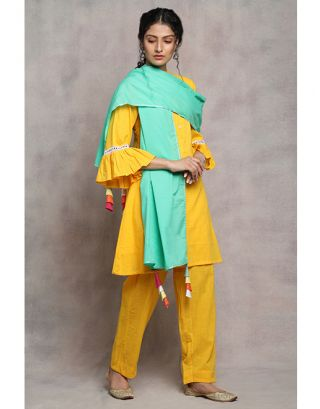 Yellow and Teal Suit Set
