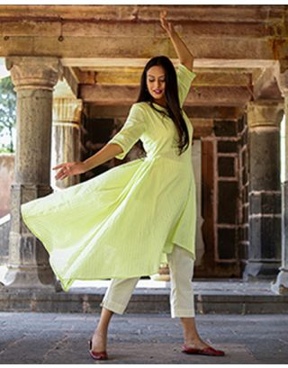 Pastel Green Kurta Set