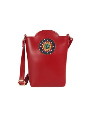 Maroon Bucket Sling Bag