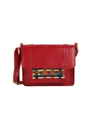 Maroon Pocket Pop Sling Bag