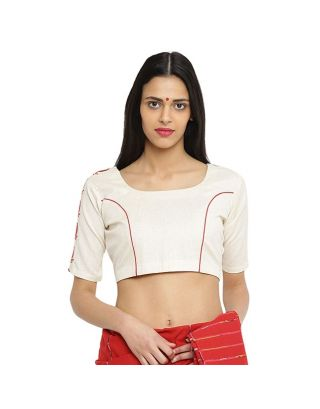 Off-White Khadi Blouse