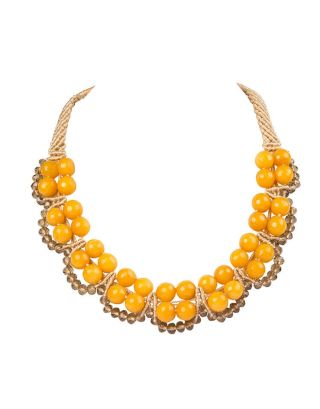 Yellow Round Crystal Necklace