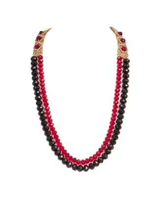 Black and Red Crystal Necklace