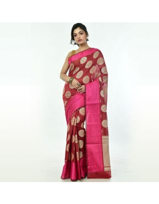 Red Banarasi Handloom Saree