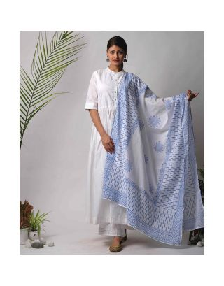 Light Blue Cotton Dupatta