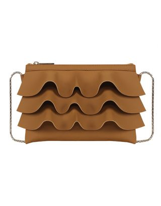 Mud brown small sling bag