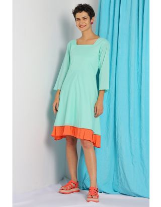 Sky Blue Double Layered Dress