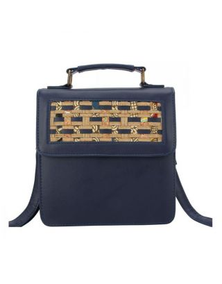 Blue Peekaboo Shoulder Bag