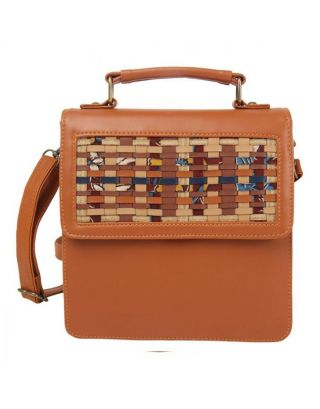 Tan Peekaboo Shoulder Bag