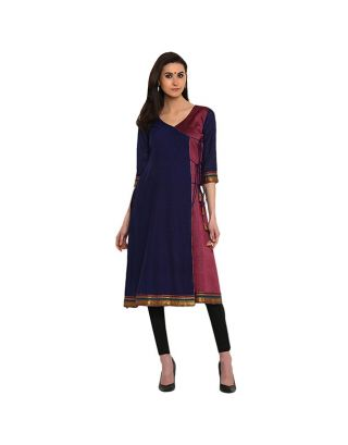 Dark Blue Angrakha Tunic
