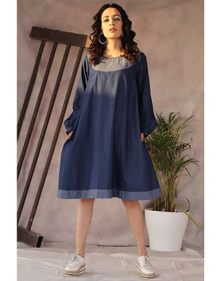 Denim Double layer Dress