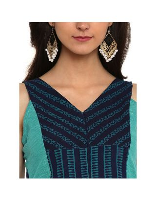 Aqua Blue Sleeveless Blouse