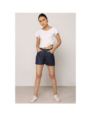 Blue Denim Tenis Shorts