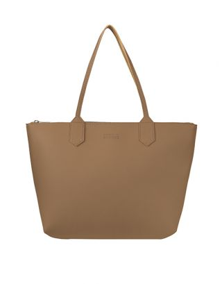 Khakhi Brown leather tote bag