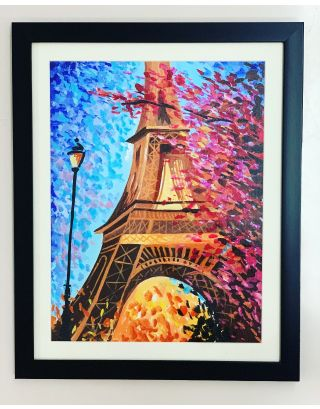 Eiffel Blossoms- Canvas painting