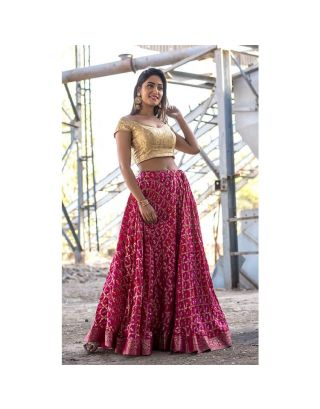 Red Banarasi Lehenga Set