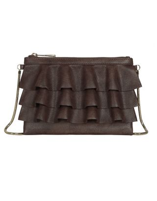 Coffee brown small sling bag