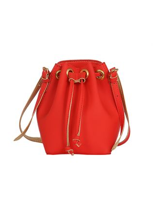 Red penny bucket bag