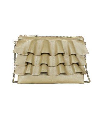 Beige small sling bag
