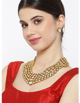 Royal 3 Layered Kundan Necklace Set