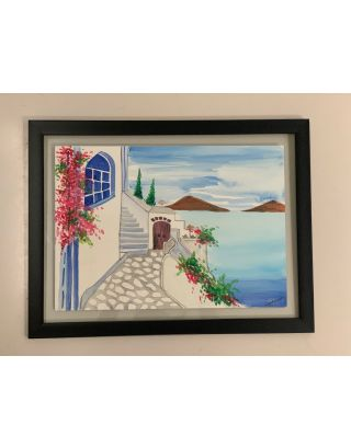 Santorini Dreams Water color painting