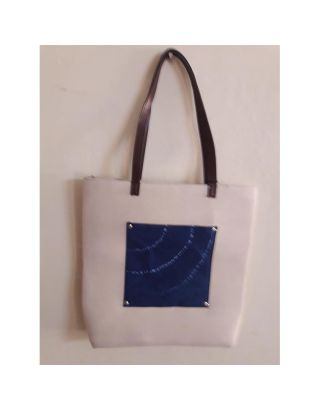 Patchwork Tie Dye Tote Hand Bag