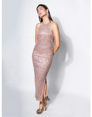 Rose Gold Classic Backless Dress