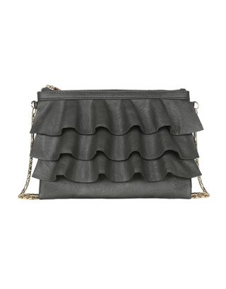 Ashy metallic small sling bag