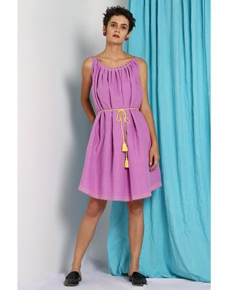 Lilac Tie-Up Dress