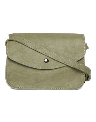 Green Wrinked Sling Bag