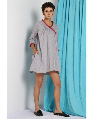 Grey Angarkha Dress